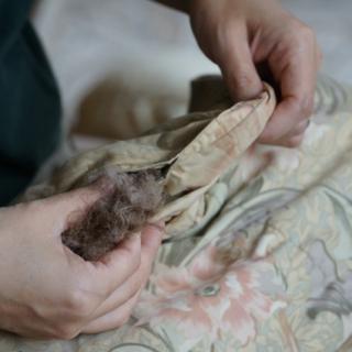 100万円以上する羽毛布団をあけてみた。